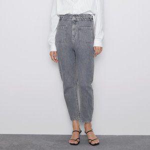 NWT ZARA High waist jeans Paperbag 25 (US 0)